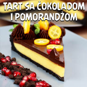 Tart sa čokoladom i pomorandžom - Video Recept